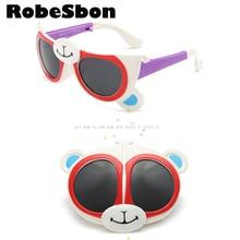 2016 de Moda Diseñador de la Marca de Chicas Gafas de Sol Niños Bendable Flexible Vidrios Lindos Niños Niños UV400 Gafas Pequeñas gafas de sol