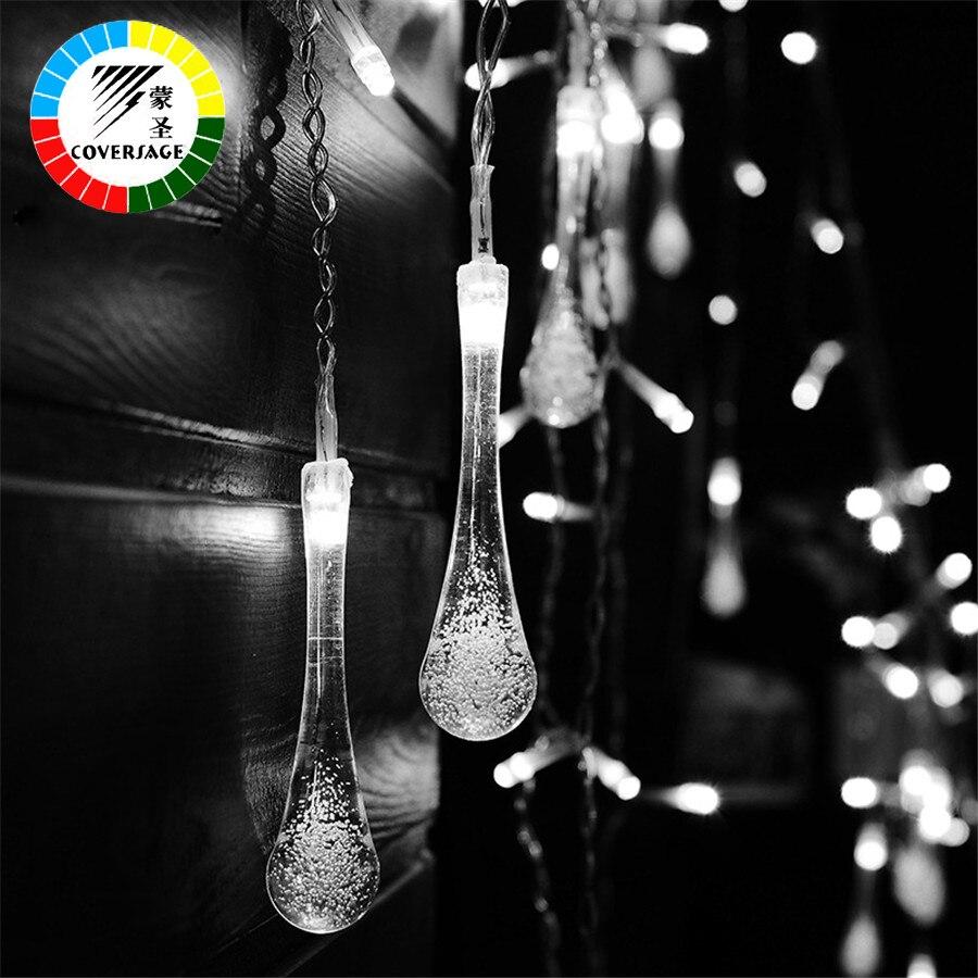 Coversage Lucine luces LED Navidad Hada cuerda luces de boda cortina guirlande lumineuse cortina led luces decorativas