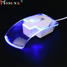 mosunx E5 Mecall hot sale1600 DPI 3 Button LED Optical Wired Gaming Game Mice Mouse For Pro Gamer Whoelsale
