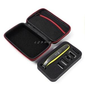 Image 3 - Schutzhülle Box Fall Beutel EVA Reißverschluss Reisetasche für Philips OneBlade Trimmer Rasierer Zubehör