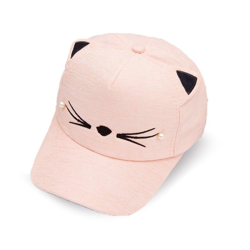 Encantadora perla Cry gato gorras de béisbol del bebé sombrero de sol  Primavera Verano Adjutable niño niños niñas accesorios de fotografía en  Sombreros y ... cbe52c31103