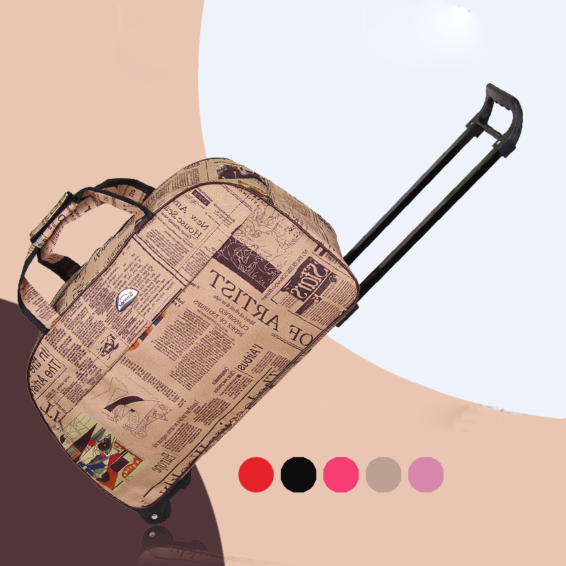 Fashion Women And Men Carry-Ons Travel Luggage Bags Wheels Suitcase For Travel Luggages  ...