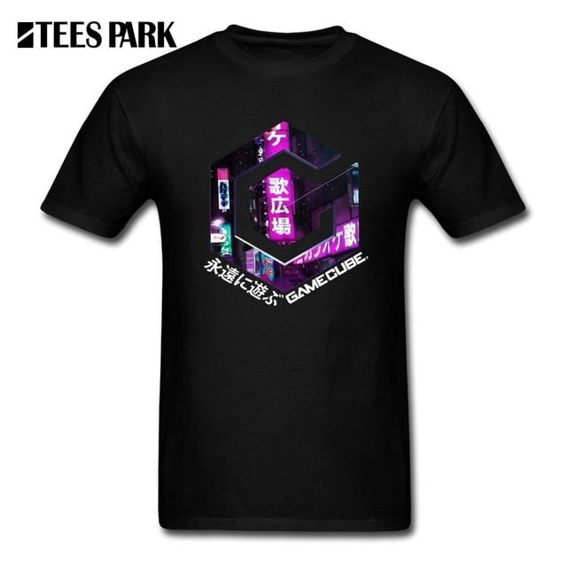 2019 Tees Hemd Vaporwave Für Immer Spielen Casual T-Shirts Männer Oansatz Kurzarm T Hemd 100% Baumwolle Teenager Coole Tops Große größe
