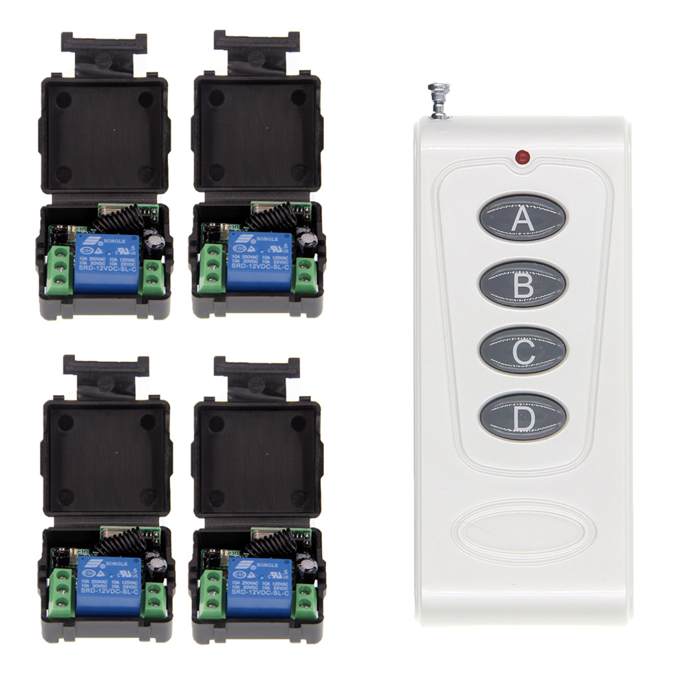 1000m High Power DC 12V 1CH 1CH 10A RF Wireless Remote Control Switch System For Garage Door / Window /Lamp,315 / 433.92 power system power system l carnitine fire 54000 1000