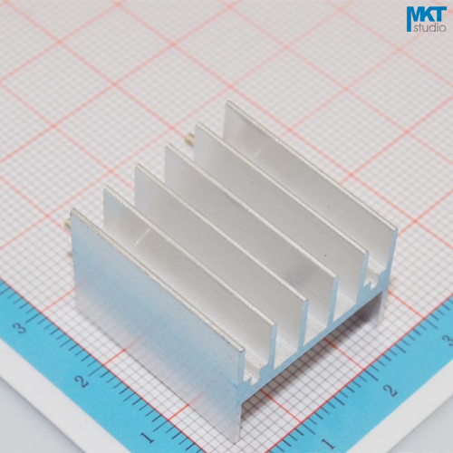 100Pcs 2 Pins 23.5mmx17mmx25mm Pure Aluminum Cooling Fin Radiator Heat Sink