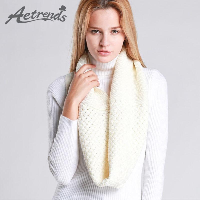 12921d99d2228  AETRENDS  moda Gran Collar Hedging caliente Otoño Invierno bufandas  mujeres bufanda de punto Z-3091