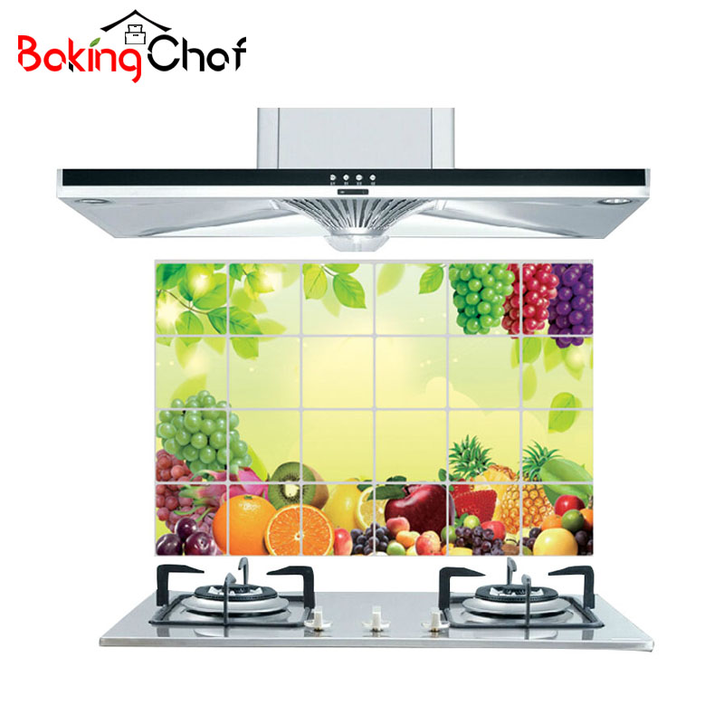 60 90cm home decor kitchen wall stickers decal decorations for Home wall decor items