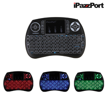 Wholesale prices iPazzPort Spanish Hebrew Italian 3 Colours Backlight Wireless Mini Keyboard Mouse For Android TV box Smart TV Raspberry Pi