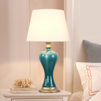 TUDA Free Shipping American Country Style Table Lamp Luxury Ceramic Table Lamp Decorative Table Lamp For
