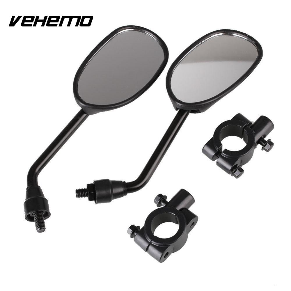 1 Set Black Universal Motorcycle Motorbike Scooters Bar End Rear Mirrors Off-Road Rearview Mirror Side View Mirrors Cafe Racer