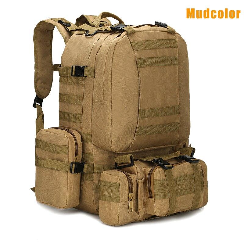 1 pc hommes sac de voyage grande capacité imperméable Camouflage imprimé armée sac à dos pour Camping WHShopping