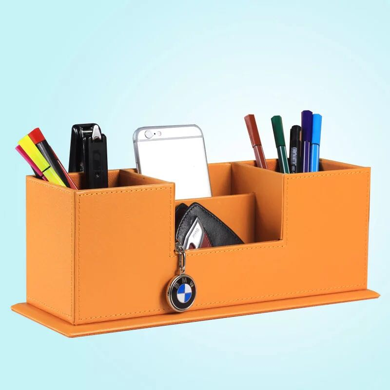 Box Case Pen Storage Box Stationery Organizer School Office Use Transparent S6