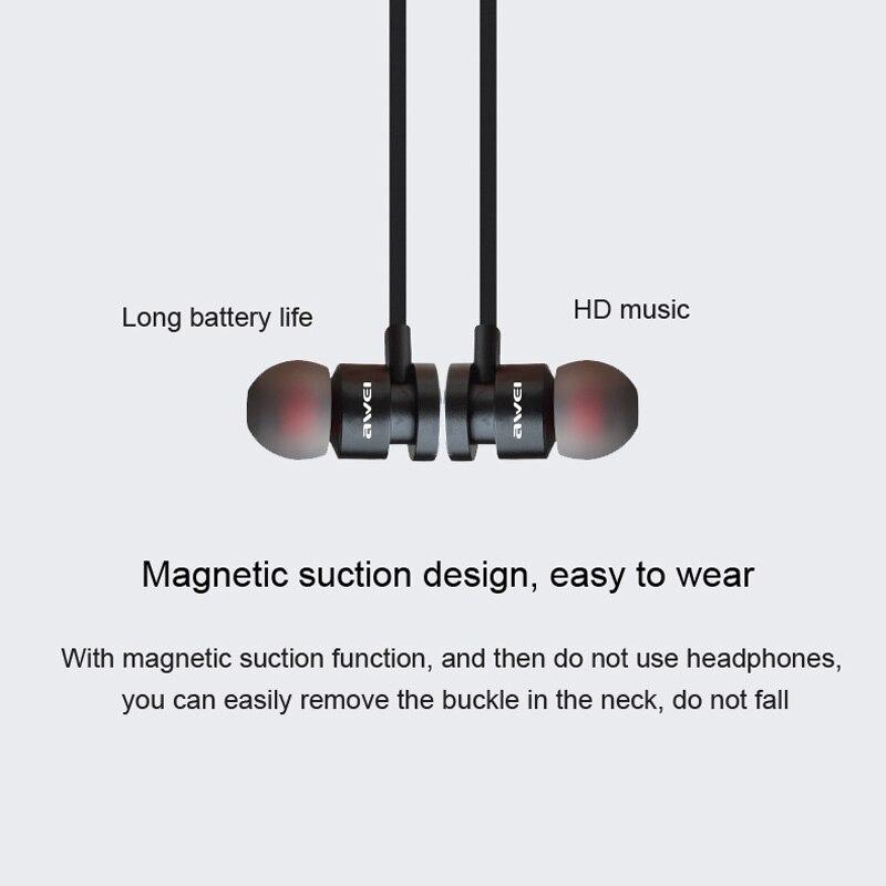 Newest AWEI T11 Wireless Headphone Bluetooth Headset Earphone Fone de ouvido Sports Music V4.2 Auriculares Bluetooth Casque 2