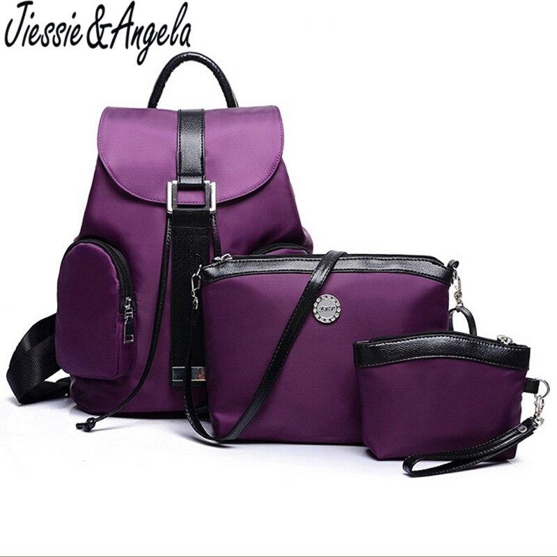 Jiessie Angela Casual women backpacks bag shoulder bag waterproof travel bag backpack school backpacks for teenage