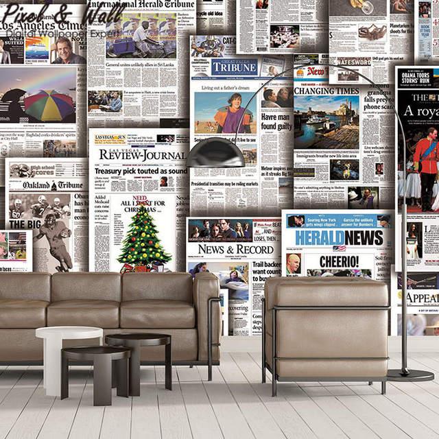 Accessori Per Soggiorno Moderno.Taglio Giornale Carta Da Parati Murale 3d Accessori Decorazione