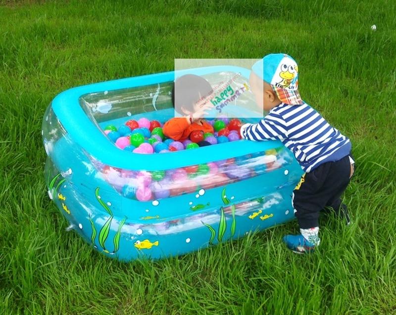 Summer Play Pool Type Inflatable Kiddie Swimming Pool Inflatable Rectangular Kiddie Swimming