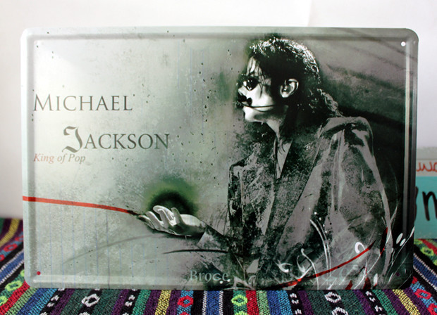 50pcs/lot Metal Sign Shabby Chic The MICHAEL JACKSON Tin Signs Wedding Decor  Suit For Bar House Office Art Wall Decor A 122 Mix