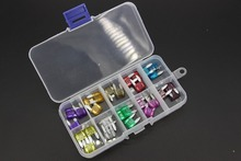 100PCS 3~40A Samll Size Auto fuse, 10pcs for each specification,  The fuse Insurance insert Lights Fuse with box and clip