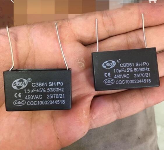 10 개/몫 새로운 CBB61 1.0/1.2/1.5/2.0/2.5/3.0/3.5/4.0/4.5/5.0/6.0/8.0/10.0/12.0 미크로포맷 450 V 모듈 스트레이트 핀 커패시턴스