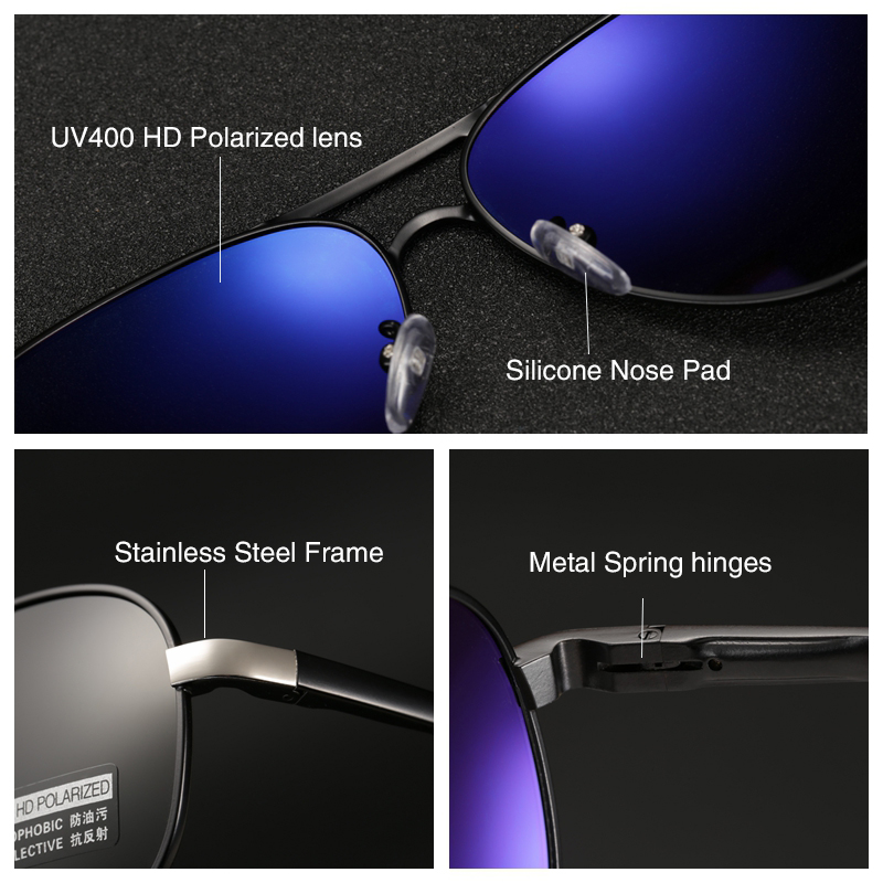 2020 HD Polarized UV 400 men's Sunglasses brand new male cool driving Sun Glasses driving eyewear gafas de sol shades with box 2