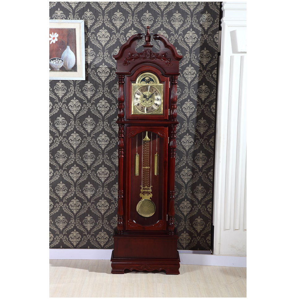 Online Shop Solid Wood Floor Living Room European Style Grandfather Clock Watch Bell Chinese Feng Shui Study Mechanical Pendulum Stand