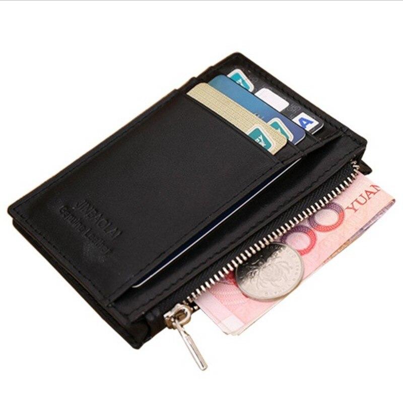 Kožna torbica od prave kože Mini muški novčanik Kartice za kavu - Novčanici