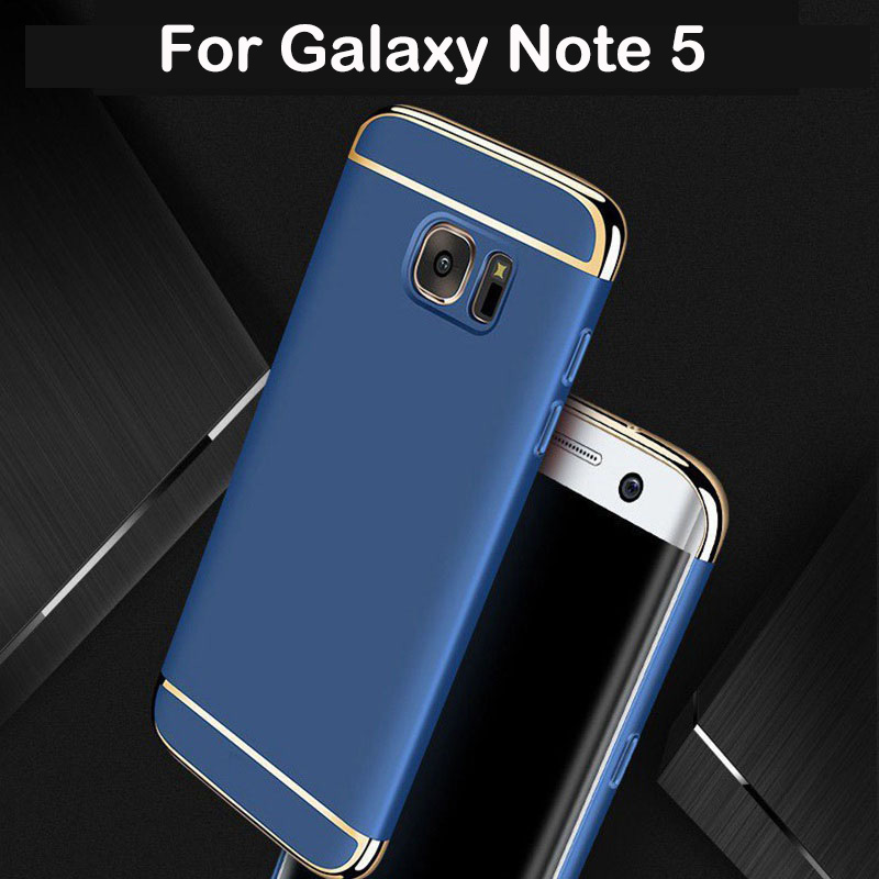 For Samsung Galaxy Note 5 Case Luxury Hard Back Cover 3 in 1 360 Degree Protection Ultra Thin Slim For Samsung Note 5 Case