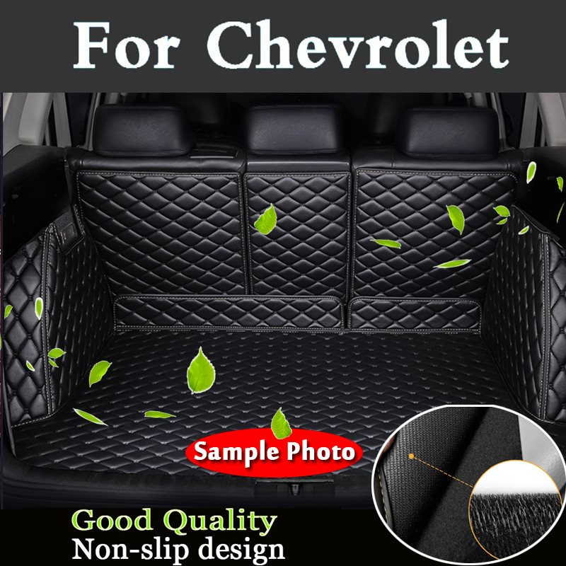 2018 Carpet Cargo Liner Custom Fit Pu Leather Car Trunk Mat Cargo Mat Cargo Liner For Chevrolet Spark Camaro Silverado Colorado