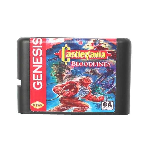 Castlevania Lignées 16 bits MD Carte de Jeu Pour Sega Mega Drive Pour Genesis