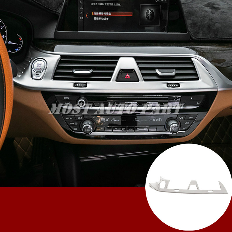 Stainless Console Air Vent Outlet Trim Cover For BMW 5