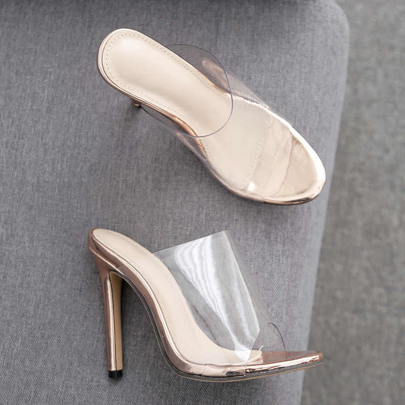 f2e16e82b65 DongCiTaCi 2019 Summer Women open toed High heels Sandals Woman Pumps  Ladies Sexy Fashion Transparent Stilettos Slippers Shoes