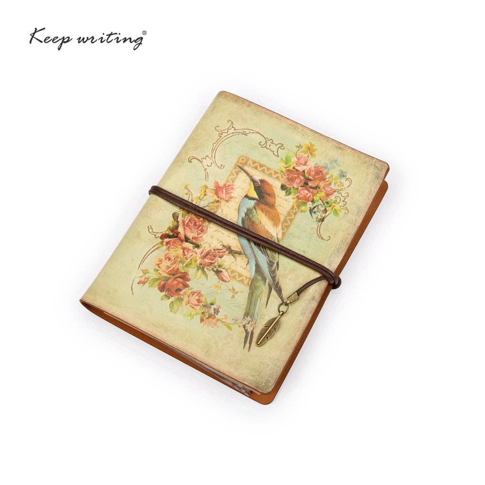 A6 Vintage journal travel Notebook 2017 Retro Notepad 2 holes Kraft paper Cute Stationery European PU Leather Cover DIY Diary sosw fashion anime theme death note cosplay notebook new school large writing journal 20 5cm 14 5cm