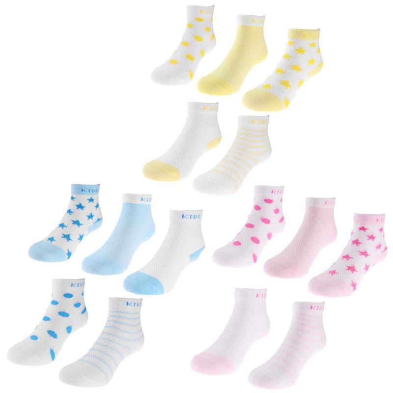 5 Pairs/Set Winter Kids Socks Baby Toddler Mesh Cartoon Breathable Cotton Absorb Sweat Socks Unisex Infant Soft Anti Slip Socks