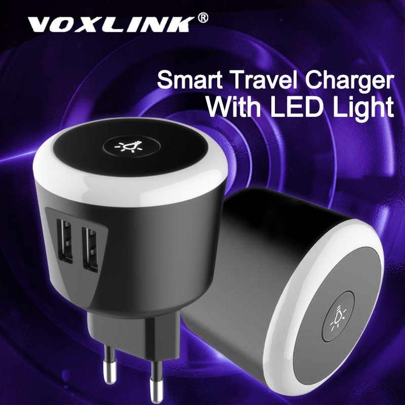 VOXLINK <font><b>USB</b></font> <font><b>Charger</b></font> Smart LED Fast phone <font><b>Charger</b></font> for iPhone X Xs 8 iPad Samsung Galaxy s8 s9 s10 Galaxy HTC Xiaomi Huawei Nexus image