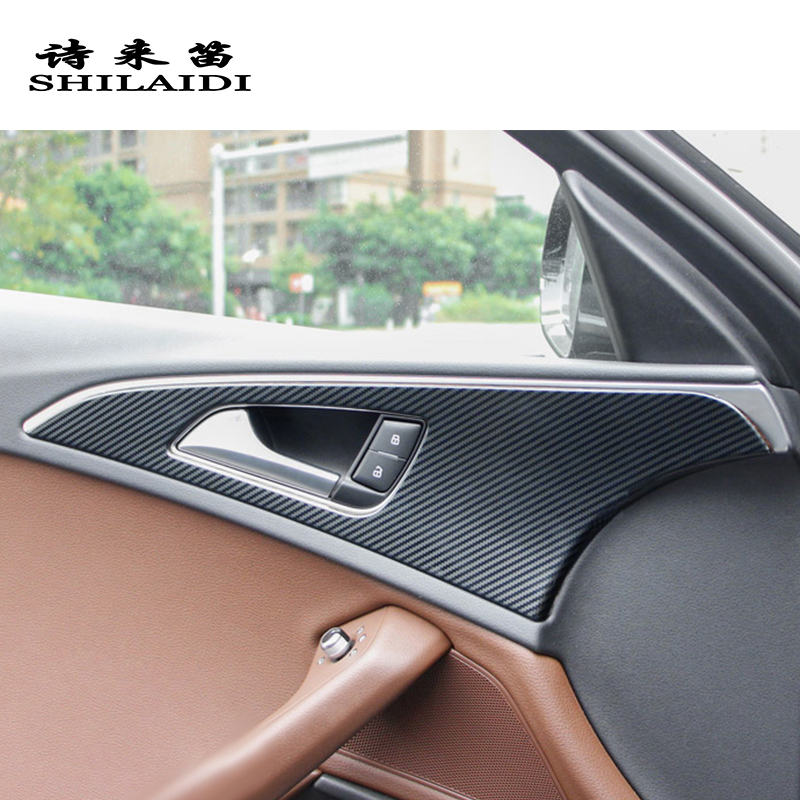 4pcs Auto Car Inner Door Handle Bowl Dekoration Cover Trim für Audi A3 2012-2018
