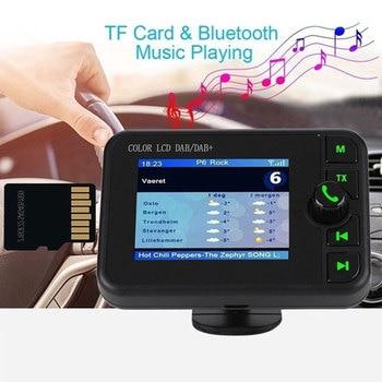 Vehemo ABS Digital Display Car DAB Tuner Car FM Transmitter Hand-Free Car Radio Adapter MP3 Player TF Card Player Car