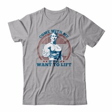 Arnold Schwarzenegger T-Shirt Mens Come With Me If You Want To Lift
