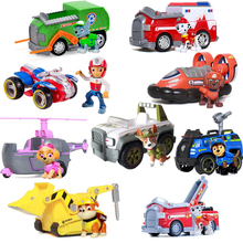 Genuine Paw Patrol Dog Toys Car Skye Tracker Vehicle Patrulla Canina Action Figures Juguetes Patrol Canine Toy Of Children Gift стоимость