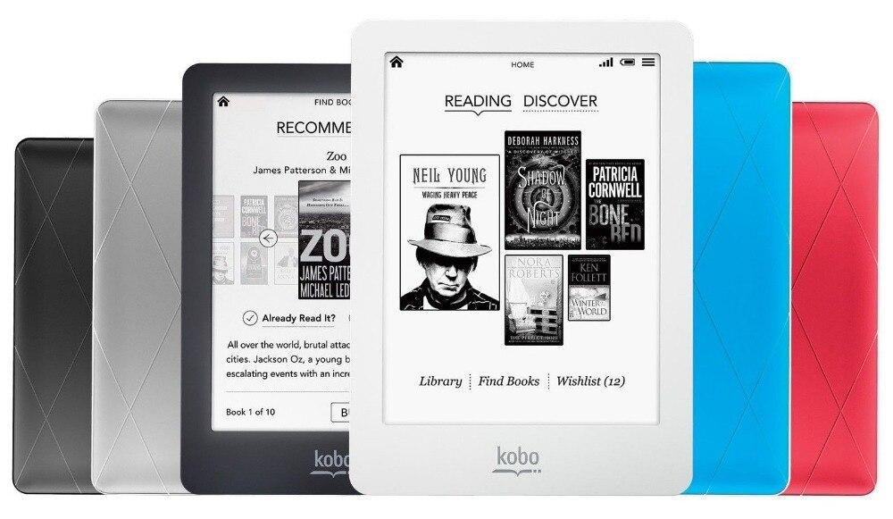 imágenes para Original Lector de libros electrónicos Kobo glo libro electronico N613 e-ink de 6 pulgadas 1024x768 2 GB eReader de Retroiluminación