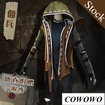 Anime! Identity V Naib Subedar Gothic Uniform Gradient Green Cloak with Cap Striped Cosplay Costume Full Set Free Shipping