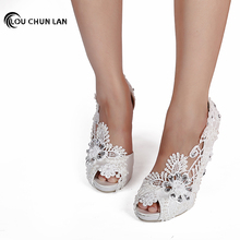 High rhinestone Heels Shoes