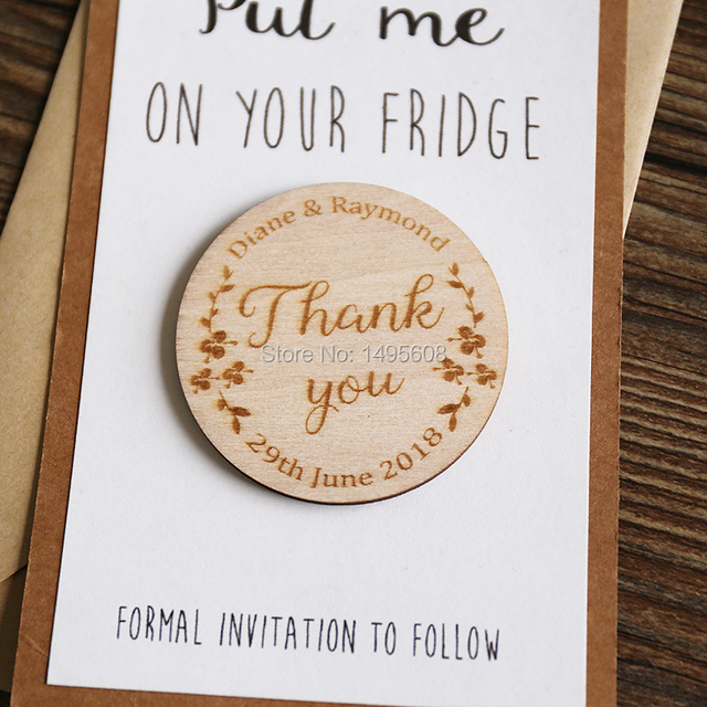 Wedding Save the Date Magnets, Personalized Elegant Wedding