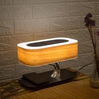 Multifunction LED Table Lamp Speaker Auto Sleep Mobile Phone Wireless Charger Tree Design Home Decoration Random Logo