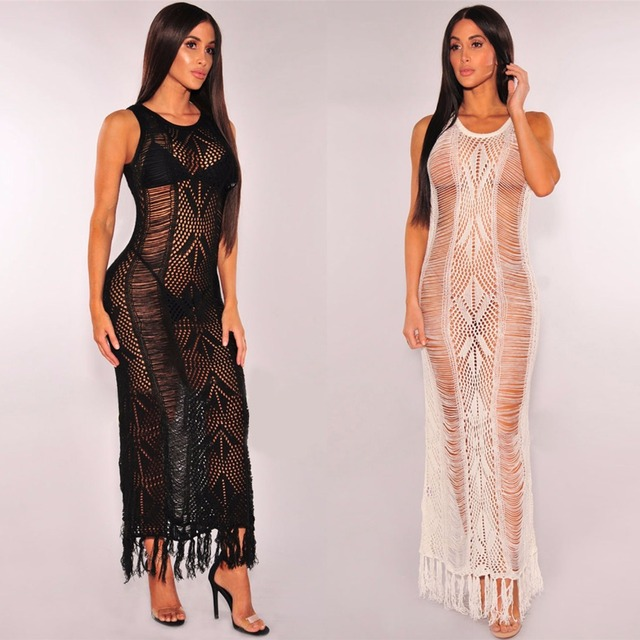 See through Maxi Dress
