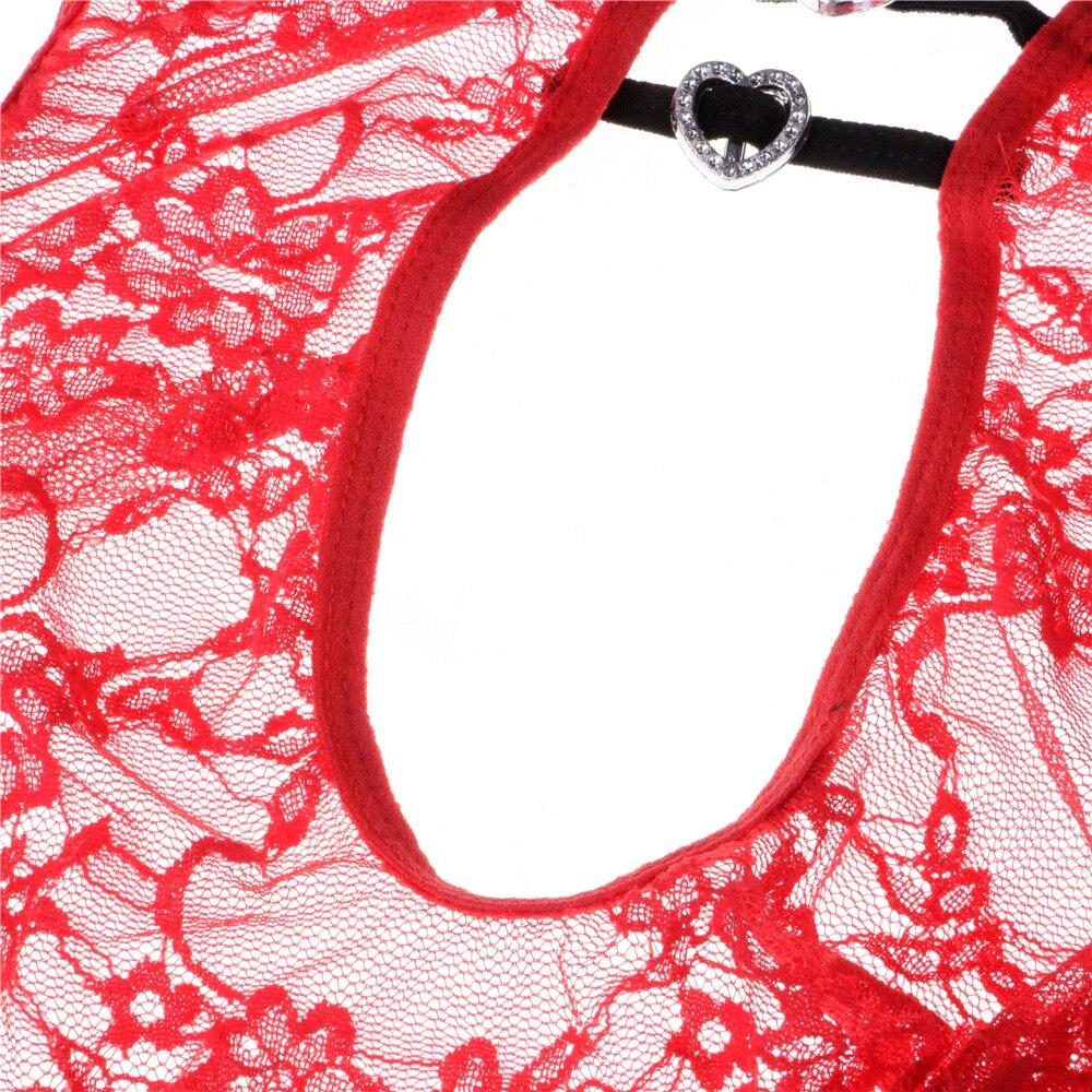 Женское сексуальное кружевное белье, прозрачное Эротическое Белье для сна, нижнее белье Тедди, цельное