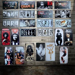 [ WellCraft ] MOVIE MUSiC STAR CHAPLIN ALI Tin Signs Wall Plaque Poster Decor for Internet Cafes Room Iron Painting HY-1705