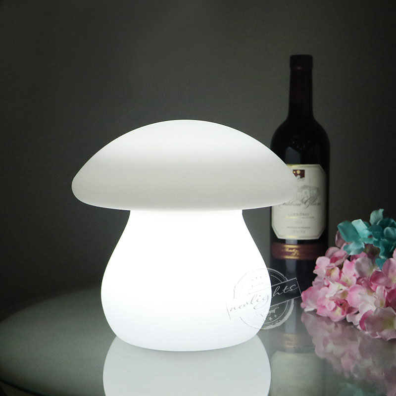 New Mushroom Led Light Table Lamp Coffee Bar Home Decoration Event Party 16 Color Changing