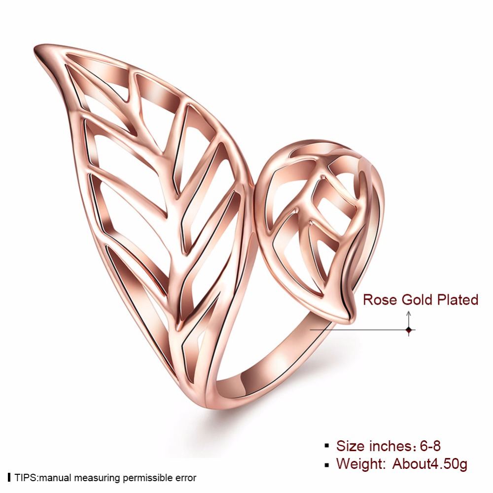 Wholesale Latest Leaves Design Without Stone Rose Gold Plating ...