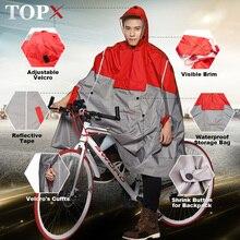Impermeable Raincoat Women/Men Outdoor Rain Poncho Backpack Reflective Design Cycling Climbing Hiking Travel Rain Cover