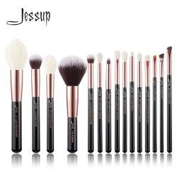 Джессап кисти розовое золото/черный Профессиональные кисти для макияжа Набор Пудра Make up brush карандаш натуральный-синтетические волосы